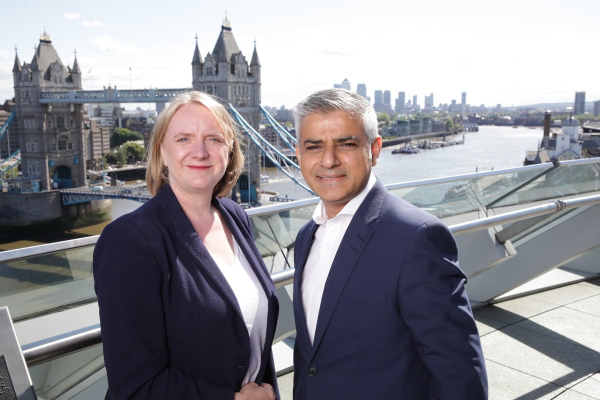 Deputy Mayor of London Joanne McCartney with London Mayor Sadiq Khan