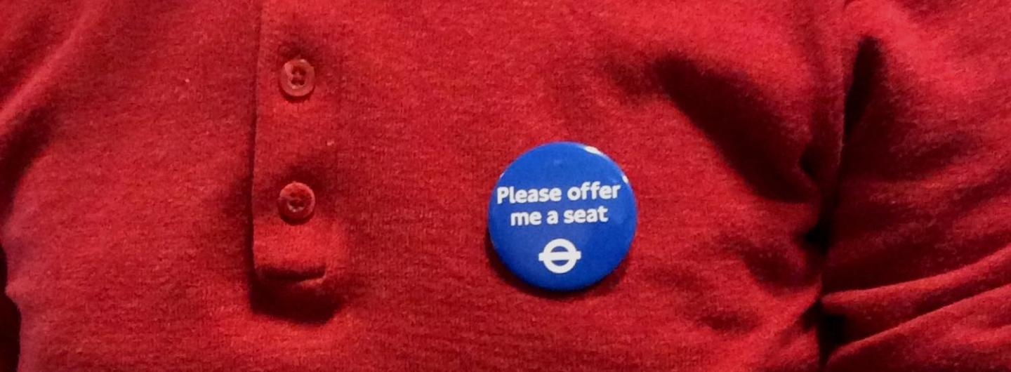 London to launch Europe's first 'Offer Me a Seat' badge for hidden disabilities