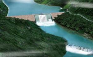Le barrage de Grand Poubara © energie.gouv.ga