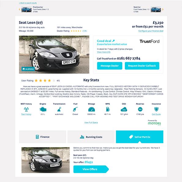 Regit used car page design 5