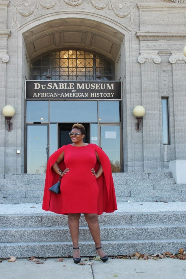 caped-adrianna-papell-red-sheath-dress-faux-leather-plus-size-cape