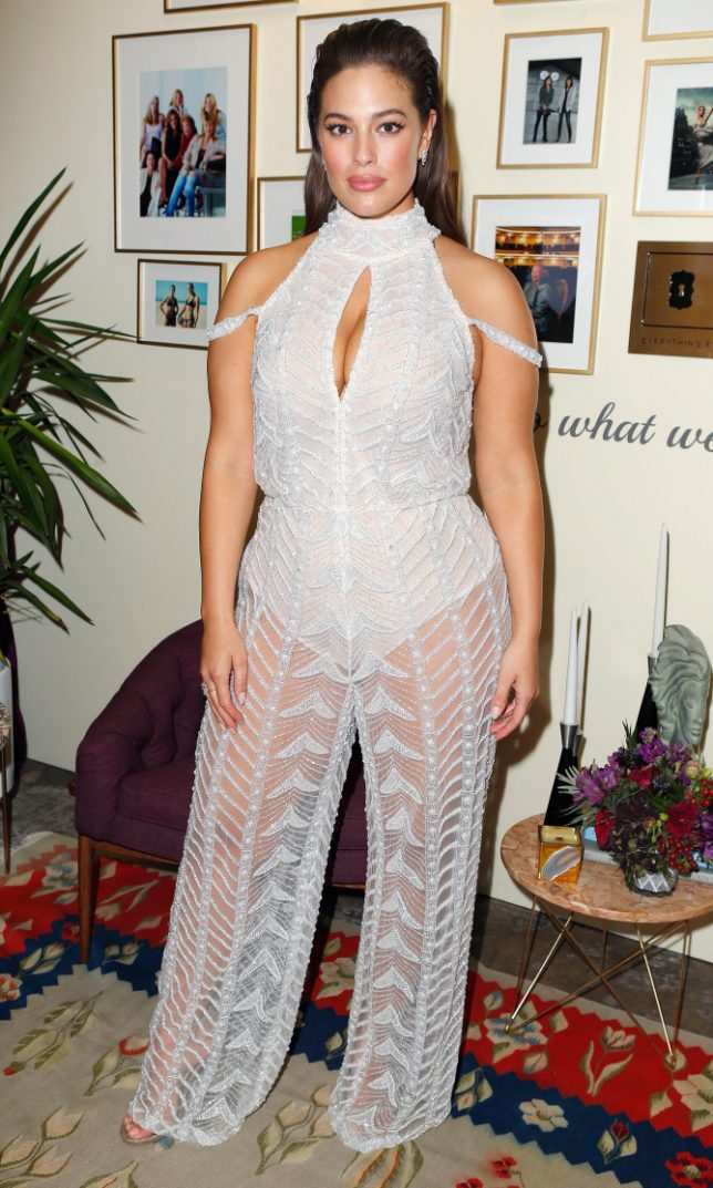 LOS ANGELES, CA - NOVEMBER 14:  Honoree Ashley Graham poses in the green room at Glamour Women Of The Year 2016 at NeueHouse Hollywood on November 14, 2016 in Los Angeles, California.  (Photo by Jeff Vespa/Getty Images for Glamour)