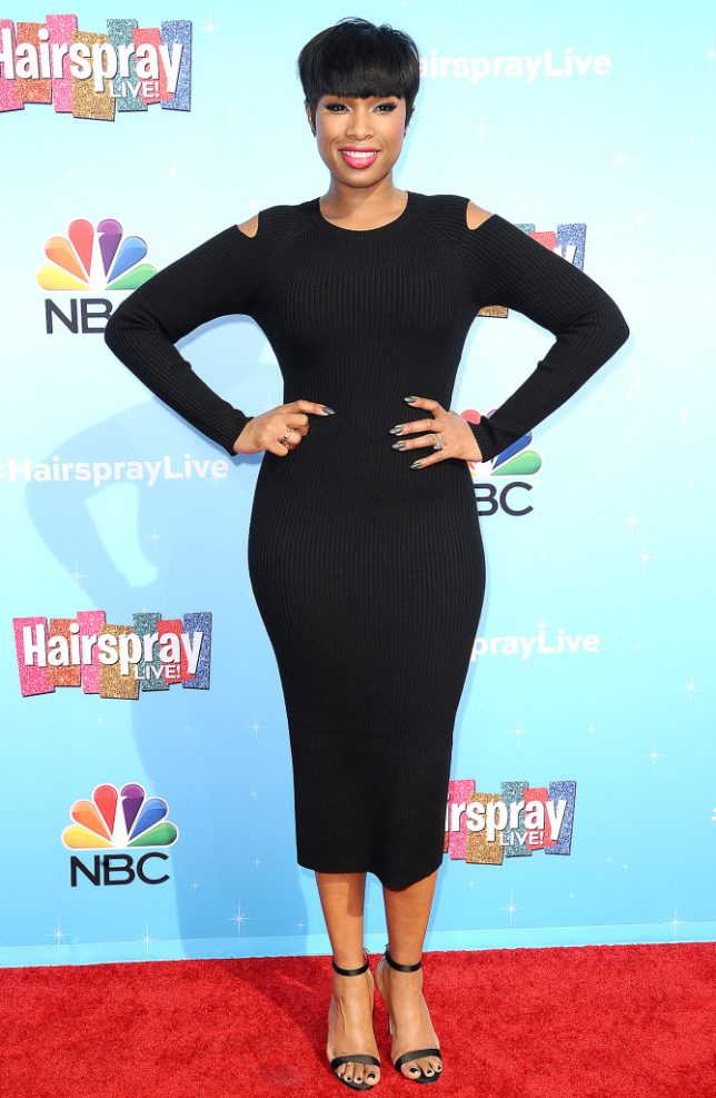 "UNIVERSAL CITY, CA - NOVEMBER 16:  Actress Jennifer Hudson attends the press junket for NBC's ""Hairspray Live!"" at NBC Universal Lot on November 16, 2016 in Universal City, California.  (Photo by Jason LaVeris/FilmMagic)"