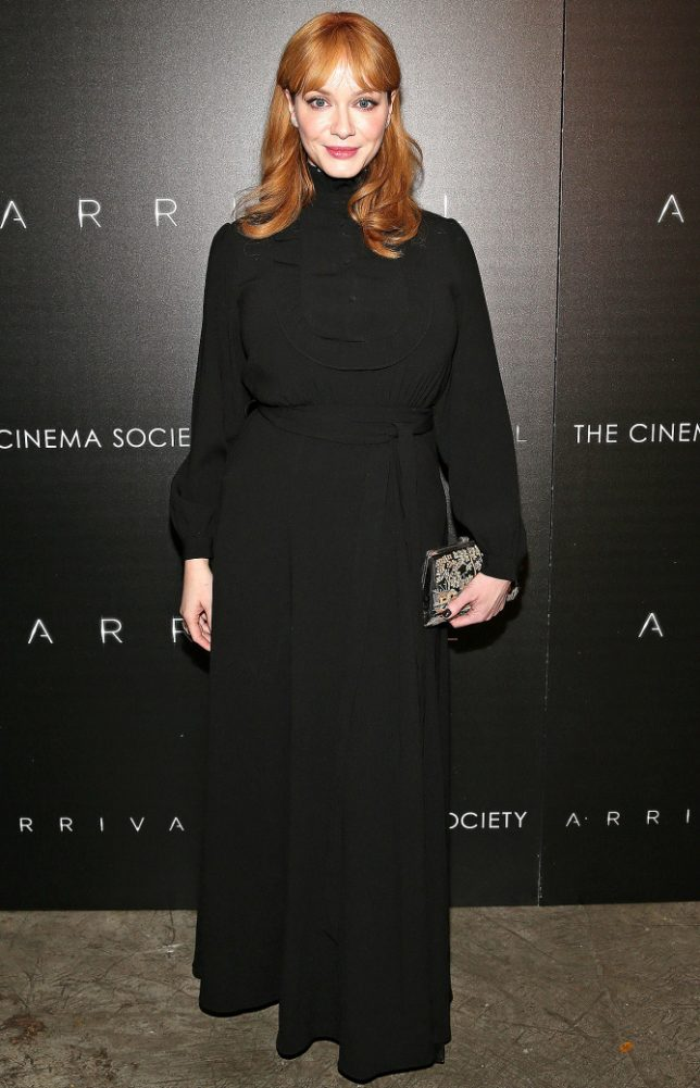 Mandatory Credit: Photo by Mark Von Holden/REX/Shutterstock (7526819aq) Christina Hendricks Spike Jonze & The Cinema Society host a screening of Paramount Pictures' 'Arrival', New York, USA - 29 Nov 2016