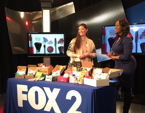 Sonja Shin talking about health and beauty subscription boxes on Fox 2 News