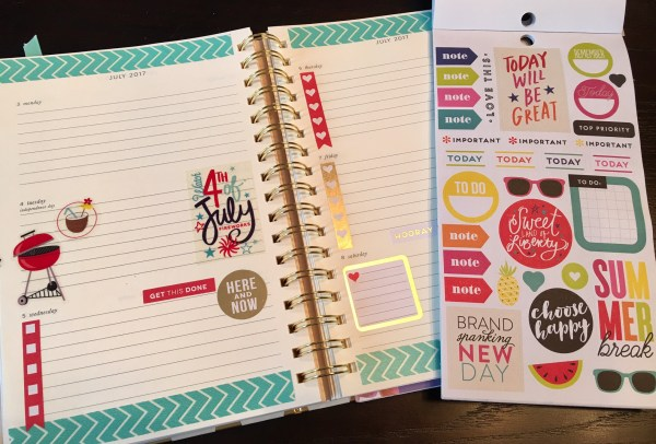 Kate Spade Planner with Me & My Big Ideas Happy Planner Stickers