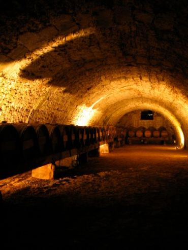 Wine Cellar in the Vaux le Vicomte mansion outside Paris