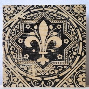 Sainte Chapelle floor tile fleur de lys, Paris