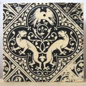 renaissance lions, sainte chapelle, paris france, medieval tiles, religious iconography, circles and geometric designs, inlaid inlay floor tiles