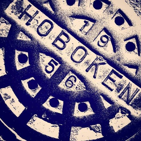 Hoboken sewer cover, manhole cover, grate, New Jersey