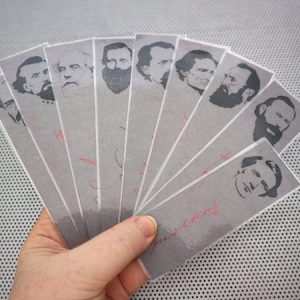 American Civil War / Heroes of the Confederacy / set of 9 handmade historical bookmarks / Forrest Davis Robert E Lee Stonewall Jackson JEB