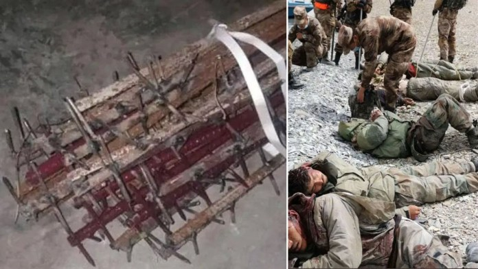 Chinese troops mutilated corpses of 20 Indian soldiers with gruesome nail-studded clubs after hand to hand slaughter