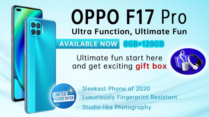Buy Oppo F17 Pro and get an exciting gift box