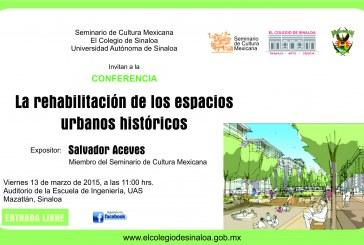Salvador Aceves ofrece Conferencia