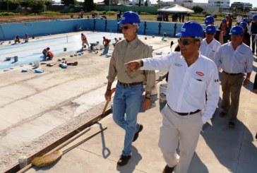 Alberca Olímpica de Mazatlán registra avance del 88 por ciento