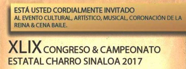 Celebración del XLIX Congreso y Campeonato Estatal Charro El ALazán