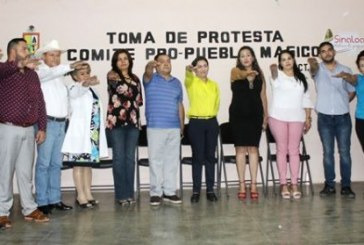 <center>Toma protesta María León al comite Pro-Pueblo Mágico de Sinaloa de Leyva</center>