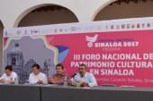 III Foro Nacional de Patrimonio Cultural en Sinaloa
