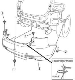 S: CX7 Anleitung zur Demontage der hinteren Stossstange