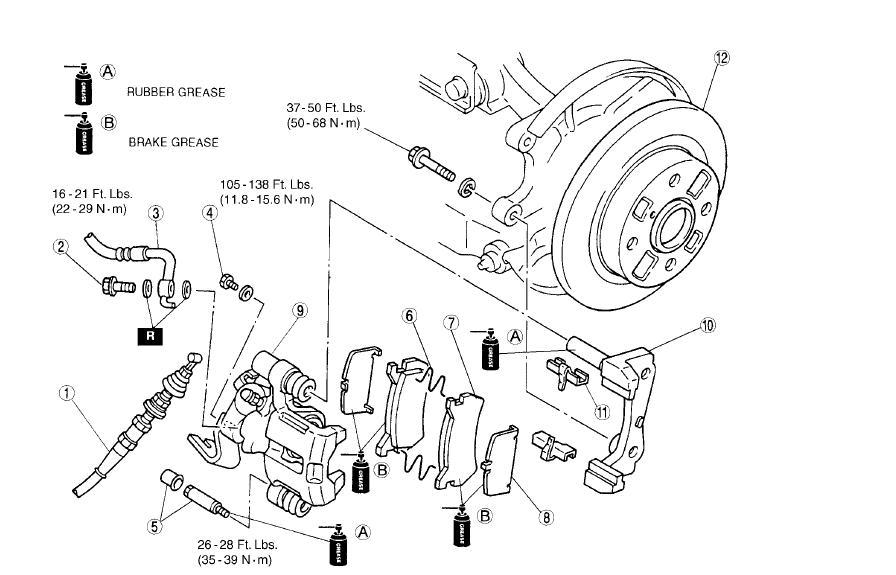 Mazda 6 Caliper Diagram. Mazda. Auto Parts Catalog And Diagram