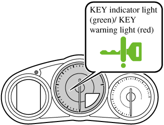 If the push button start indicator light (green) flashes