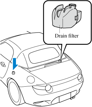 Drain filter cleaning procedure