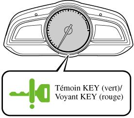 Si le témoin du bouton de démarrage du moteur (vert