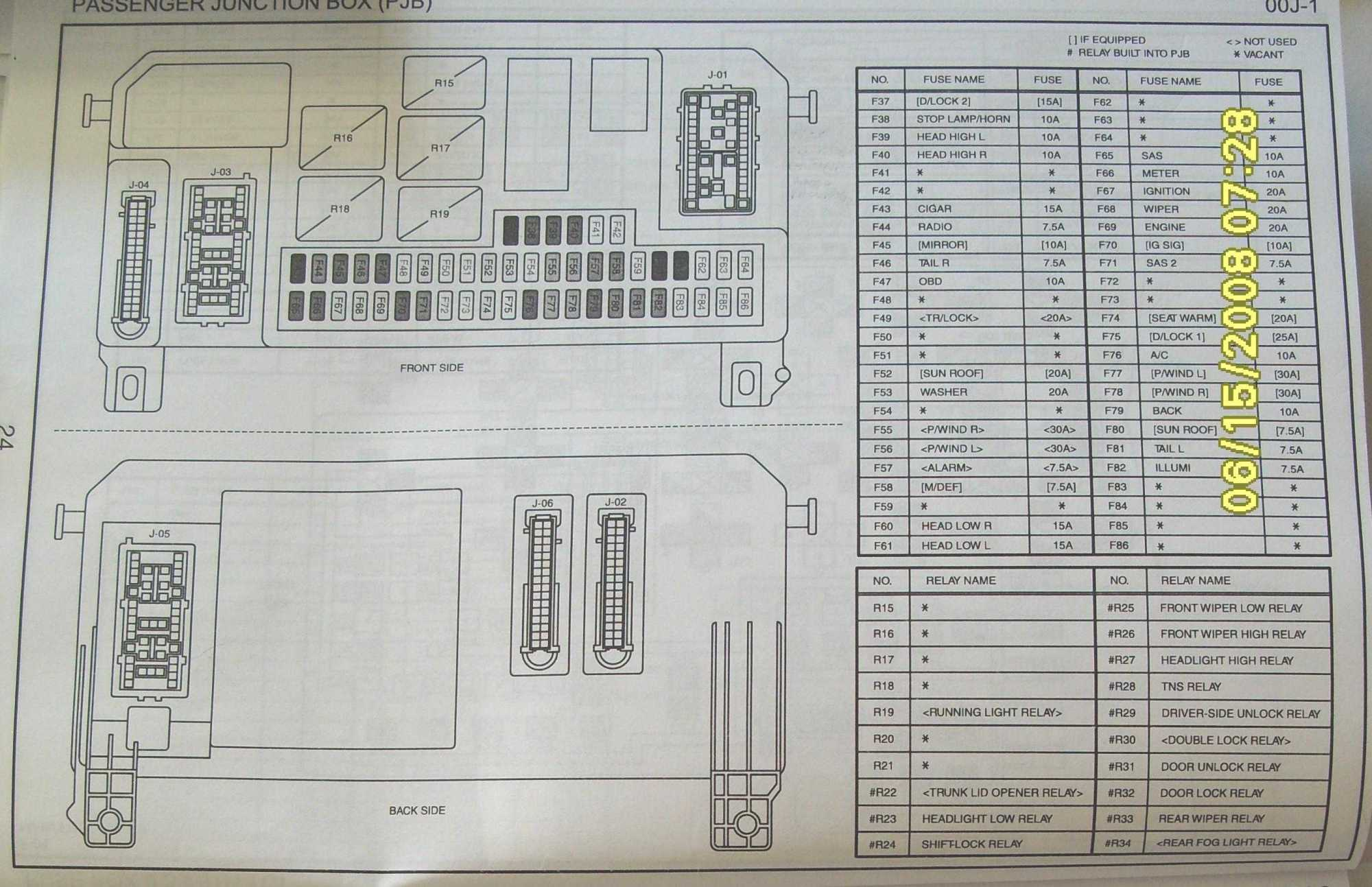 hight resolution of 2006 honda element fuse box diagram