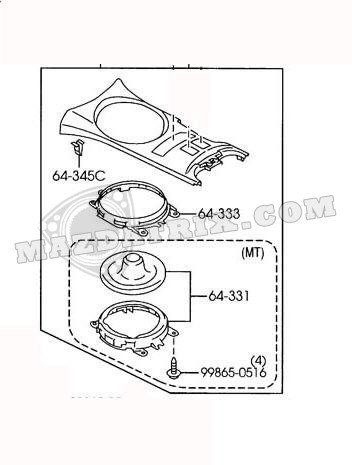 PANEL SHIFT COVER AUTOMATIC TRANSMISSION, 04-08 WITH CLOTH
