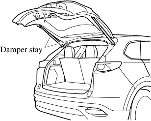 Do not modify or replace the liftgate damper stay. Consult