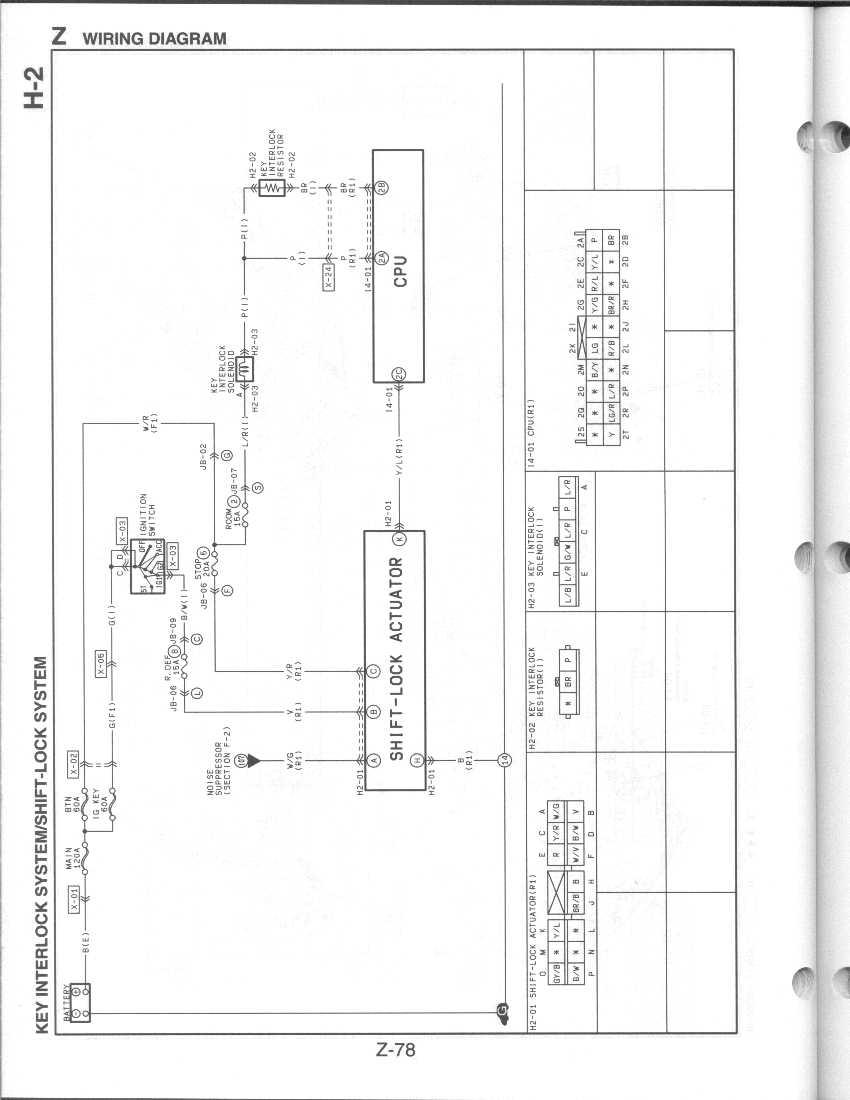 hight resolution of z 78 key interlock shift lock systems jpg