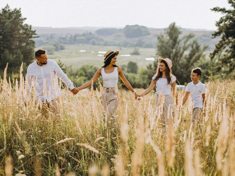 Familienfotografie mit Mazelle Fotostudio