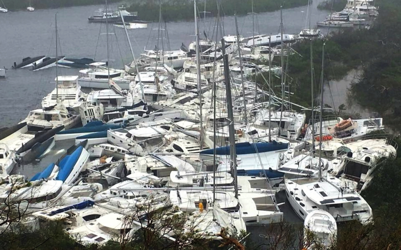 Hurricane Irma Boat Damage