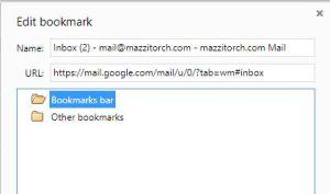 bookmark Gmail account