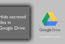 Hide secreted files in Google Drive mazzitorch