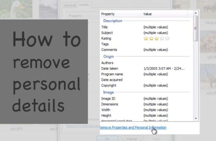 How to remove personal details