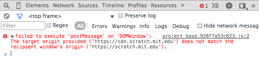 Failed to execute 'postMessage' on 'DOMWindow': https://www.accounts.google.com !== http://yourdoamin.com