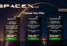 SpaceX internet plan