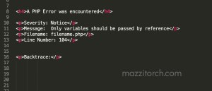 Only variables should be passed by reference