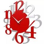 Callea Design Russell Flame Red Wall Clock Modern Design 10 020 64