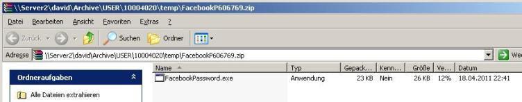"Screenshot der entzippten Datei der ""gefakten"" Facebook-Mail"