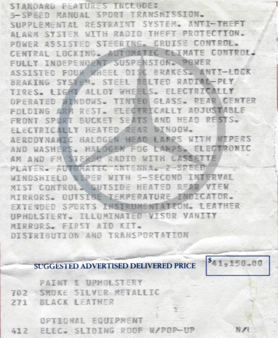Der 190E 2.6 Limited Edition
