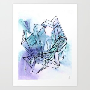 abstract art print Melissa Breitenfeldt