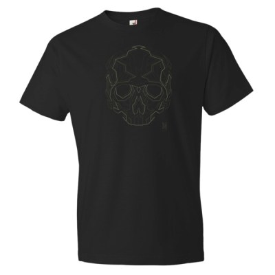 Black Geometric Skull Graphic T-shirt by MB4 Studio