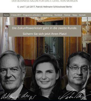 Roland Berger, Ann-Kristin Achleitner und Gabor Steingart auf der Website der Handelsblatt C-Suite