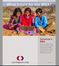 Tomorrow`s MBA