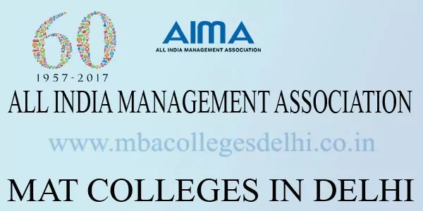MBA Colleges Delhi accepting MAT score