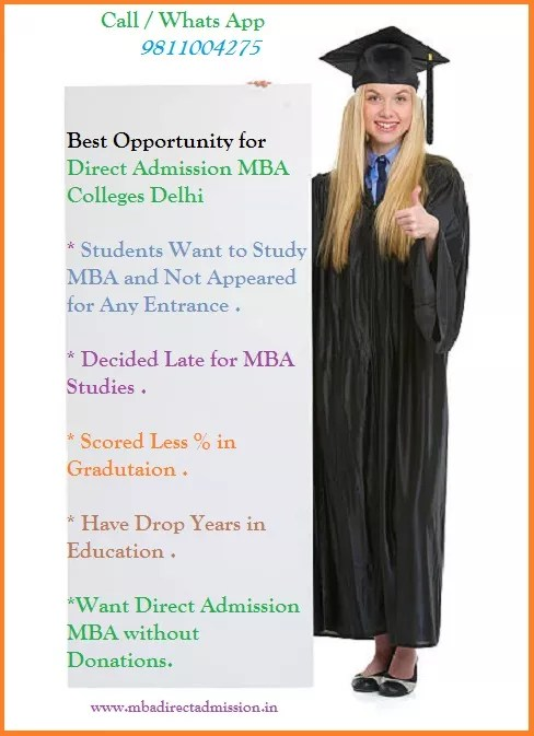 Direct Admission MBA Colleges in Delhi