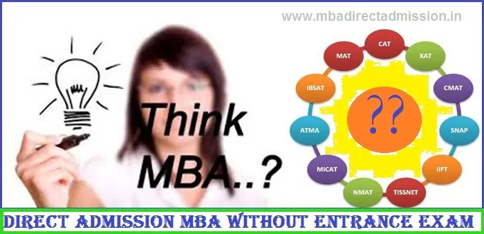 Direct Admission MBA without Entrance Exam