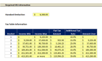 Excel Template: Tax Liability Estimator